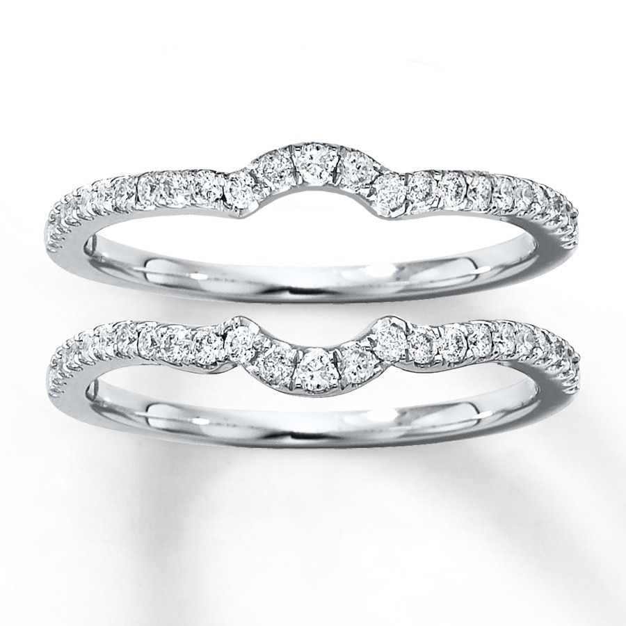 always round engagement insert band mine double ring silver bling bands enhancer set jewelry wedding cz sets