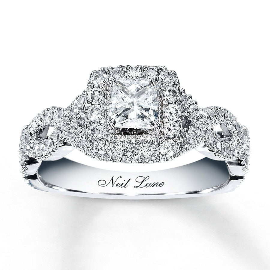 Kay Neil Lane Engagement Ring 1 ct tw Diamonds 14K White Gold