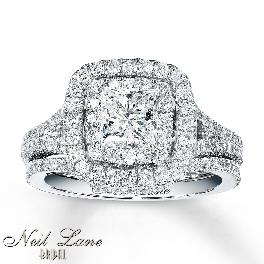 Neil Lane Engagement Ring 2 ct tw Diamonds 14K White Gold 160Q7xTg3Y