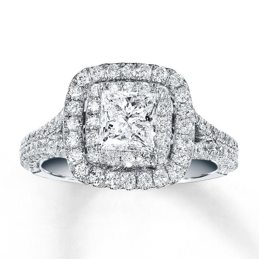Kay Neil Lane Engagement Ring 2 ct tw Diamonds 14K White Gold