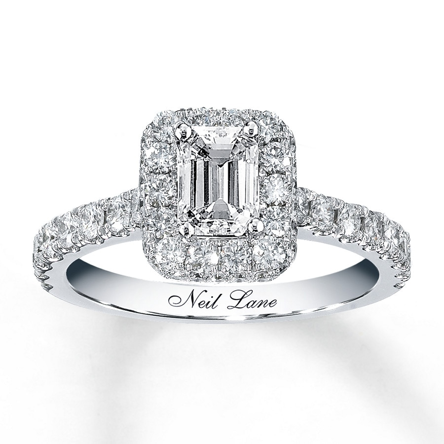 Neil lane bridal 1 38 ct tw diamond ring 14k white gold hover to zoom junglespirit Choice Image