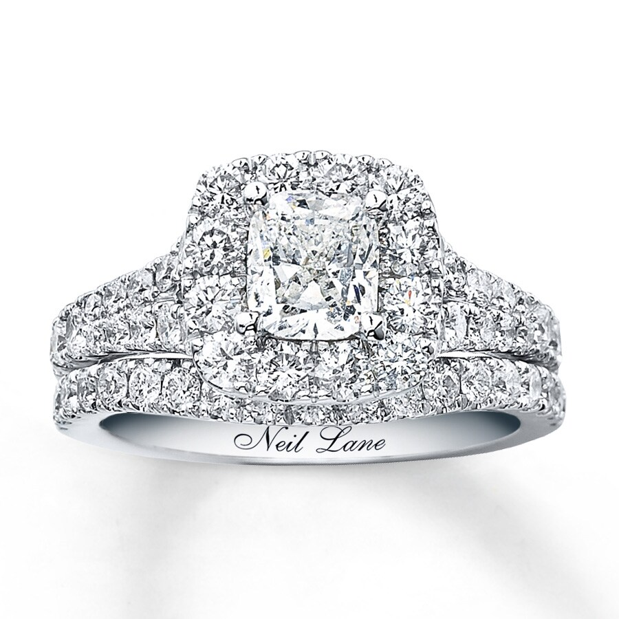 867ef353109790 Neil Lane Bridal Set 2-1/2 ct tw Diamonds 14K White Gold. Tap to expand