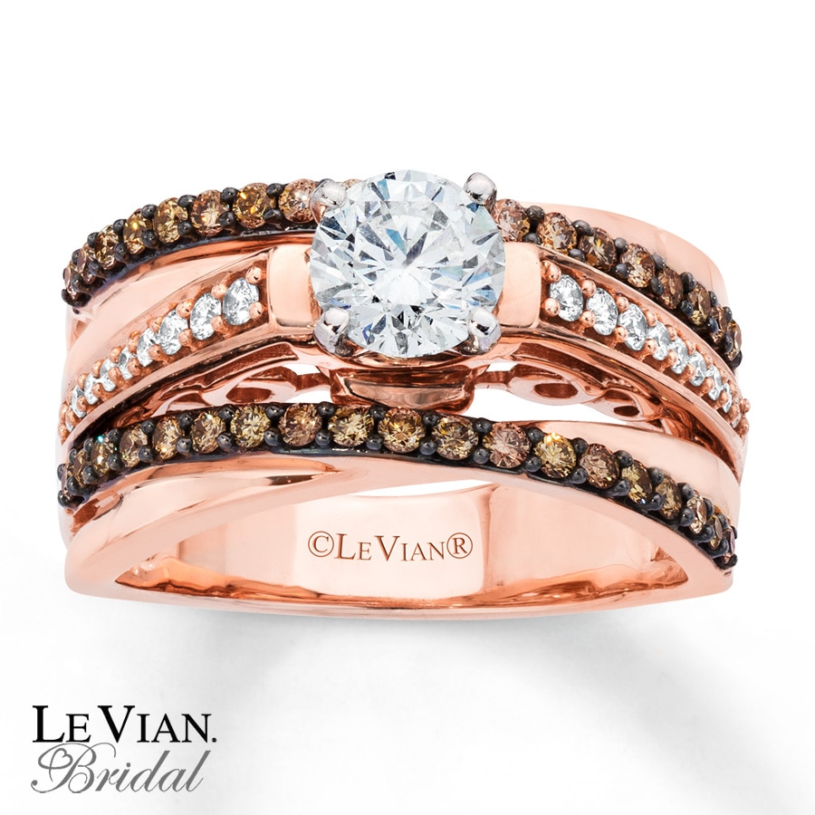 le vian bridal 1 1 8 ct tw diamonds 14k gold