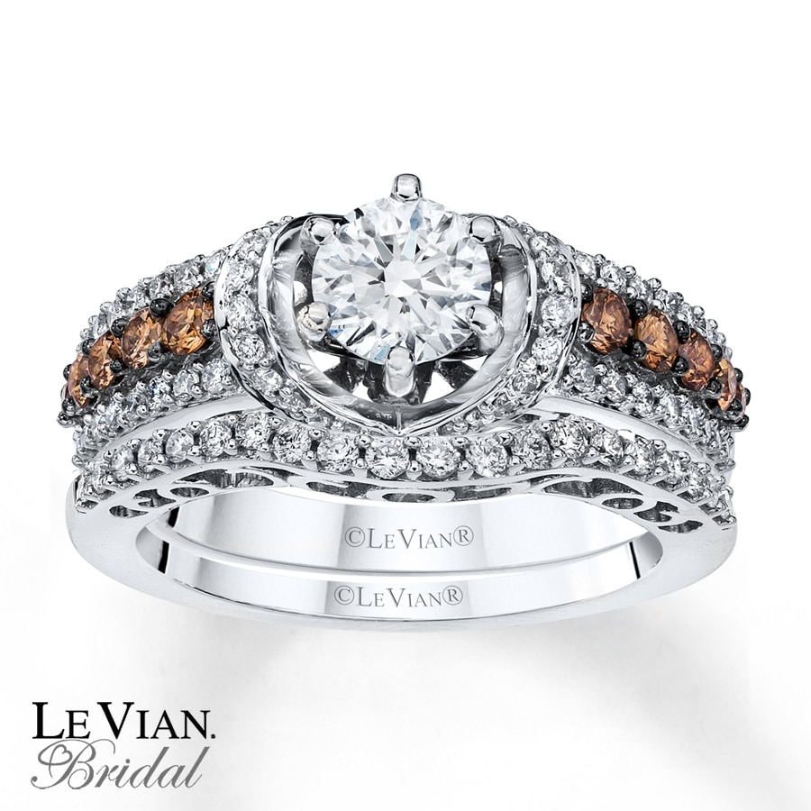 in engagement brilliant ring diamonds diamond vian kay bridal rings gold set wedding chocolate le