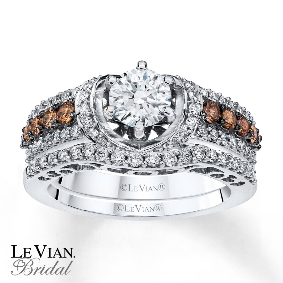 Le Vian Bridal Set Chocolate Diamonds 14k Vanilla Gold