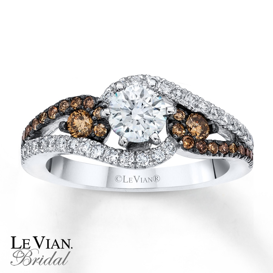 Kay  Le Vian Engagement Ring Chocolate Diamonds 14K Vanilla Gold