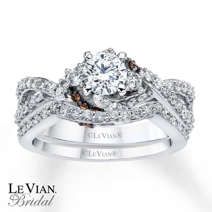 Levian Chocolate Diamonds 1 Ct Tw Bridal Set 14k Gold
