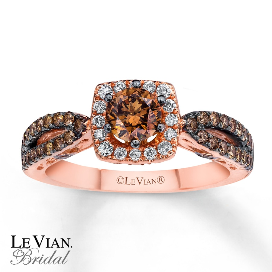 vian rings gold chocolate wedding rose ring le crossover windsor diamond