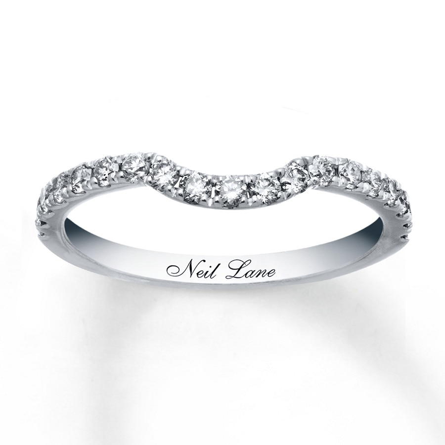 kay - neil lane wedding band 3/8 ct tw diamonds 14k white gold