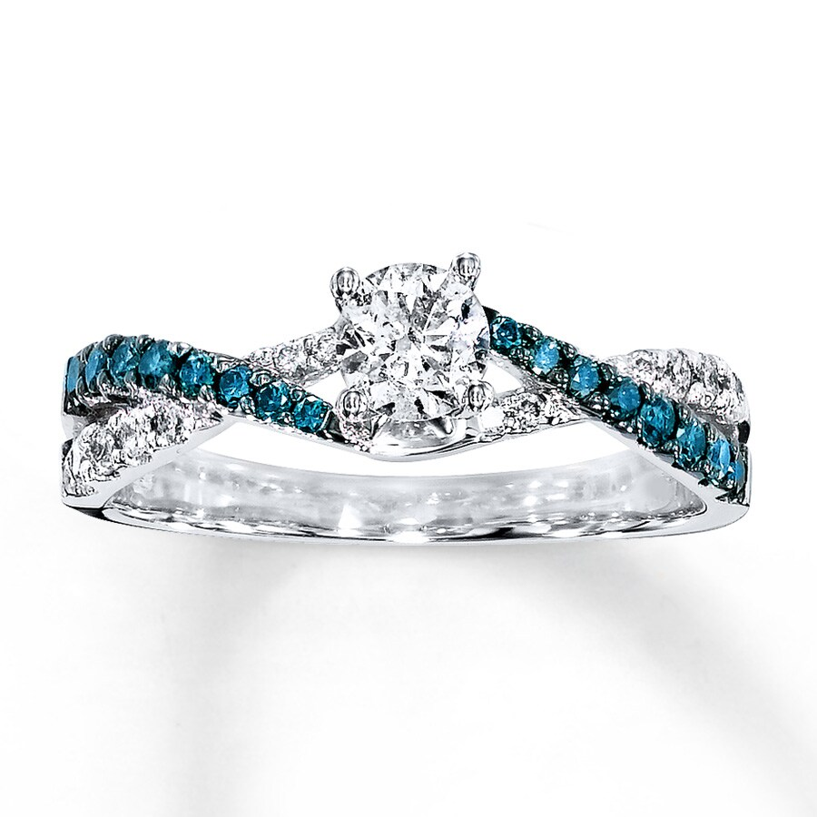 white cut blue ring oval diamond overview and regal