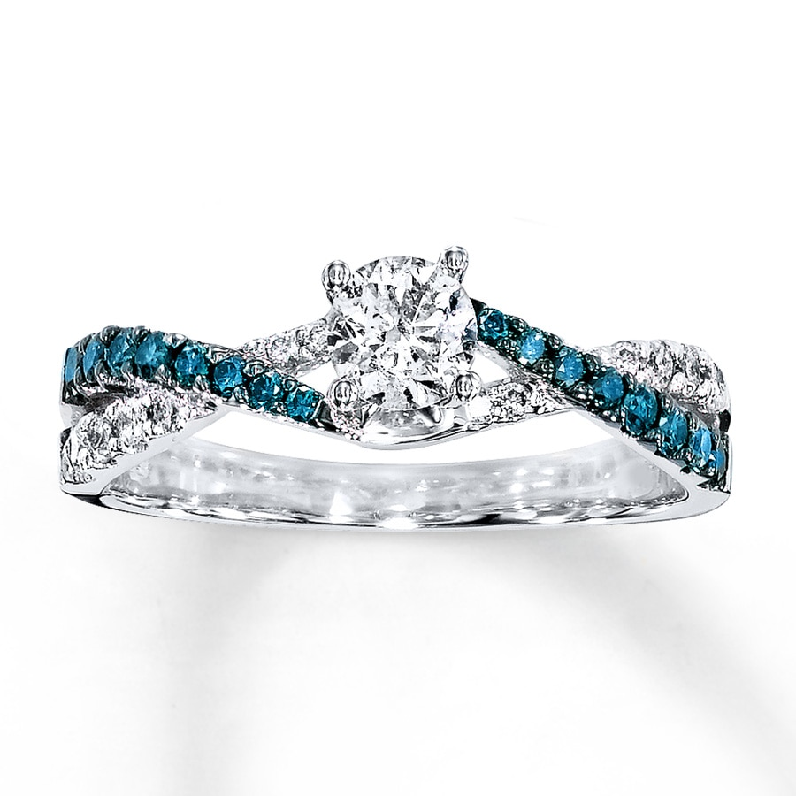 diamond and blue engagement promise zoom hover white wedding to rings