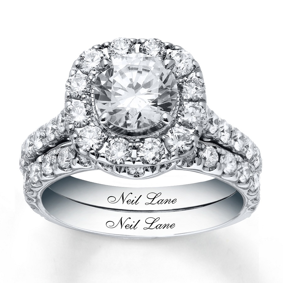 35f669461cd425 Neil Lane Bridal Set 3-3/8 ct tw Diamonds 14K White Gold - 940250500 ...