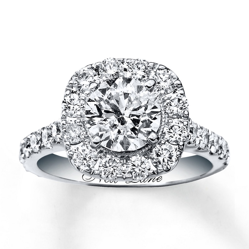 Neil Lane Engagement Ring 2 3 4 Ct Tw Diamonds 14k White Gold Halo Engagement Engagement Kay