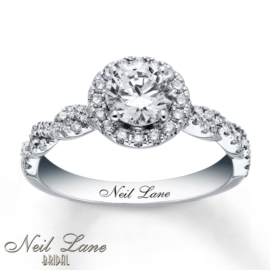 Kay Neil Lane Engagement Ring 1 1 3 ct tw Diamonds 14K White Gold