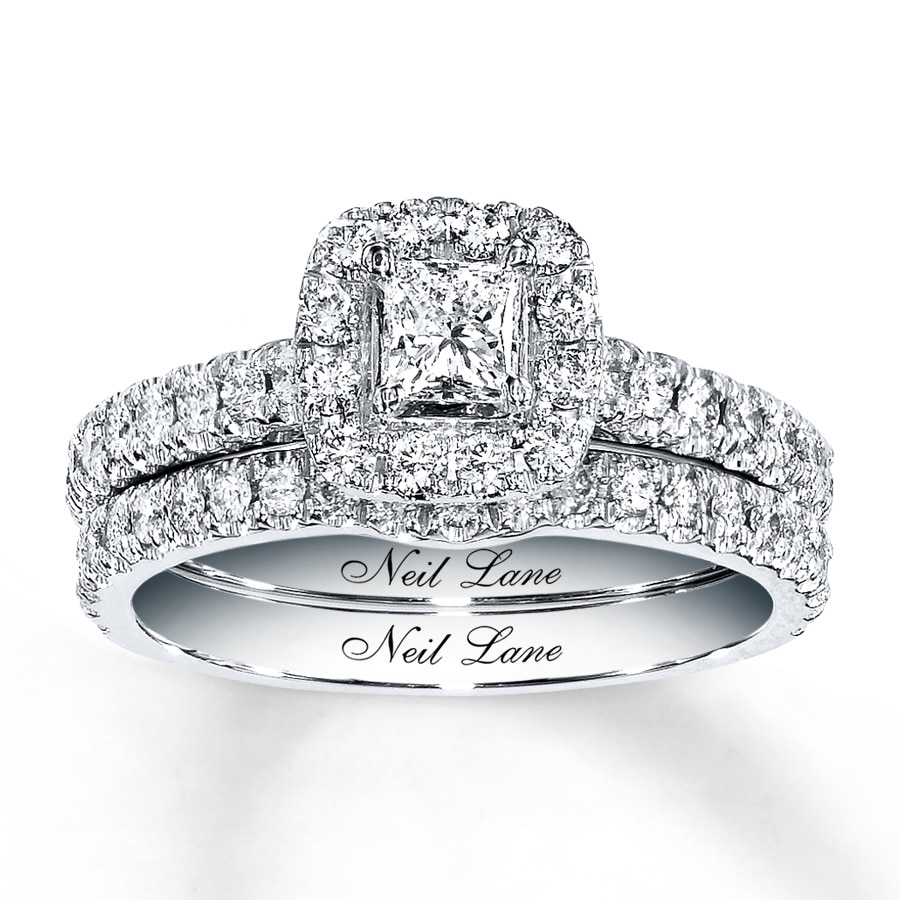 Wedding Rings Kay: Neil Lane Bridal Set 1 Ct Tw Diamonds 14K White Gold