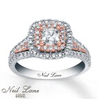 Neil Lane Engagement Ring 1 1/3 cttw Diamonds 14K Two-Tone Gold