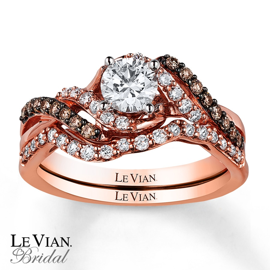 le vian bridal set 7 8 ct tw diamonds 14k strawberry