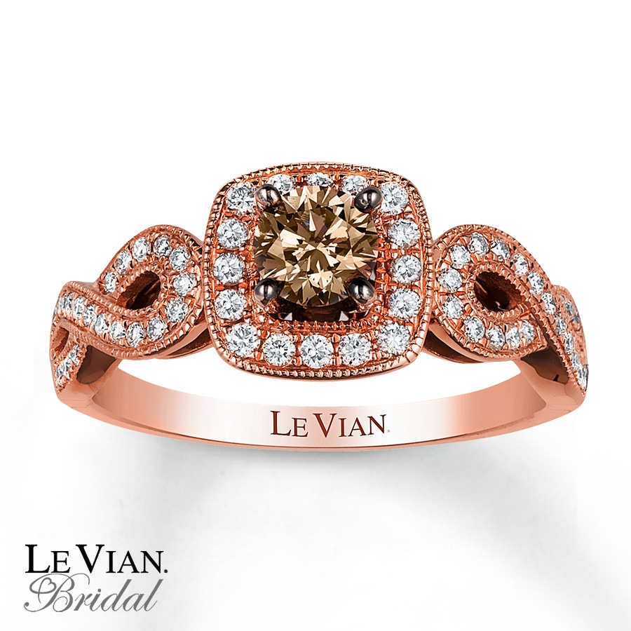 le vian engagement ring 5 8 ct tw diamonds 14k