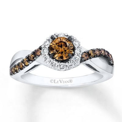 Le Vian Engagement Ring 7/8 ct tw Diamonds 14K Vanilla Gold