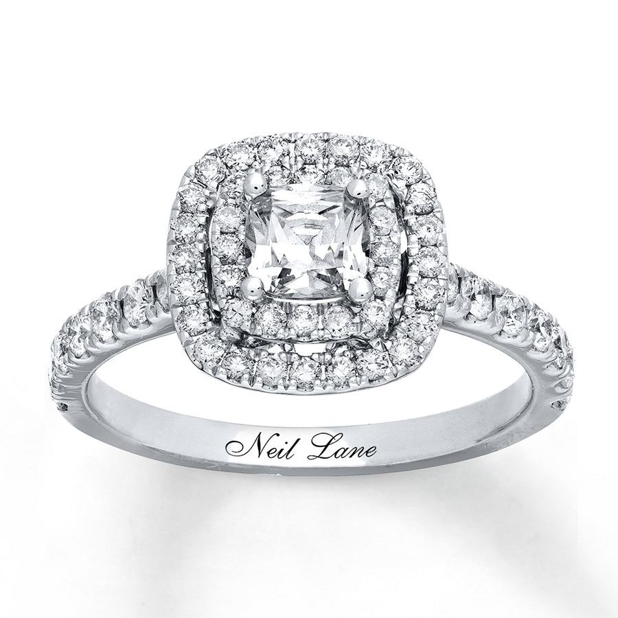 white ct gold diamond ring neil engagement lane tw diamonds