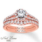 Neil Lane Bridal Set 1 1/5 ct tw Diamonds 14K Rose Gold