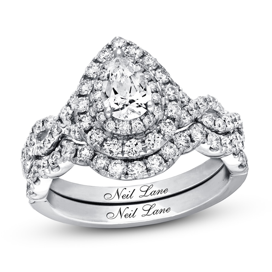 d5f98bc801e7af Neil Lane Bridal Set 1-1/2 ct tw Diamonds 14K White Gold. Tap to expand