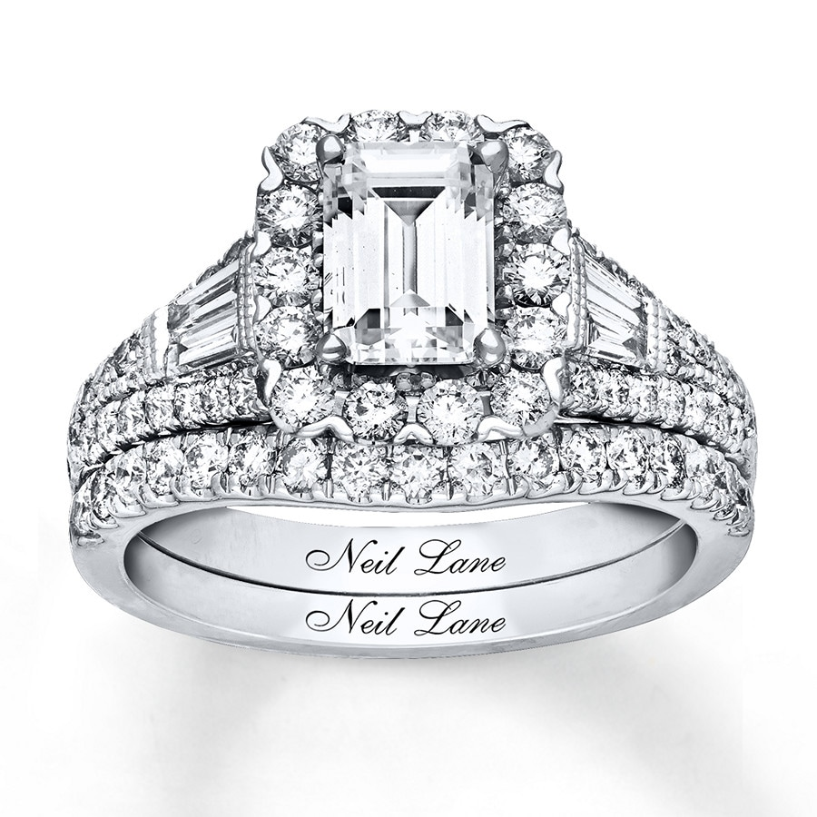 164815e90a7bc1 Neil Lane Bridal Set 2-1/5 ct tw Diamonds 14K White Gold - 940290700 ...