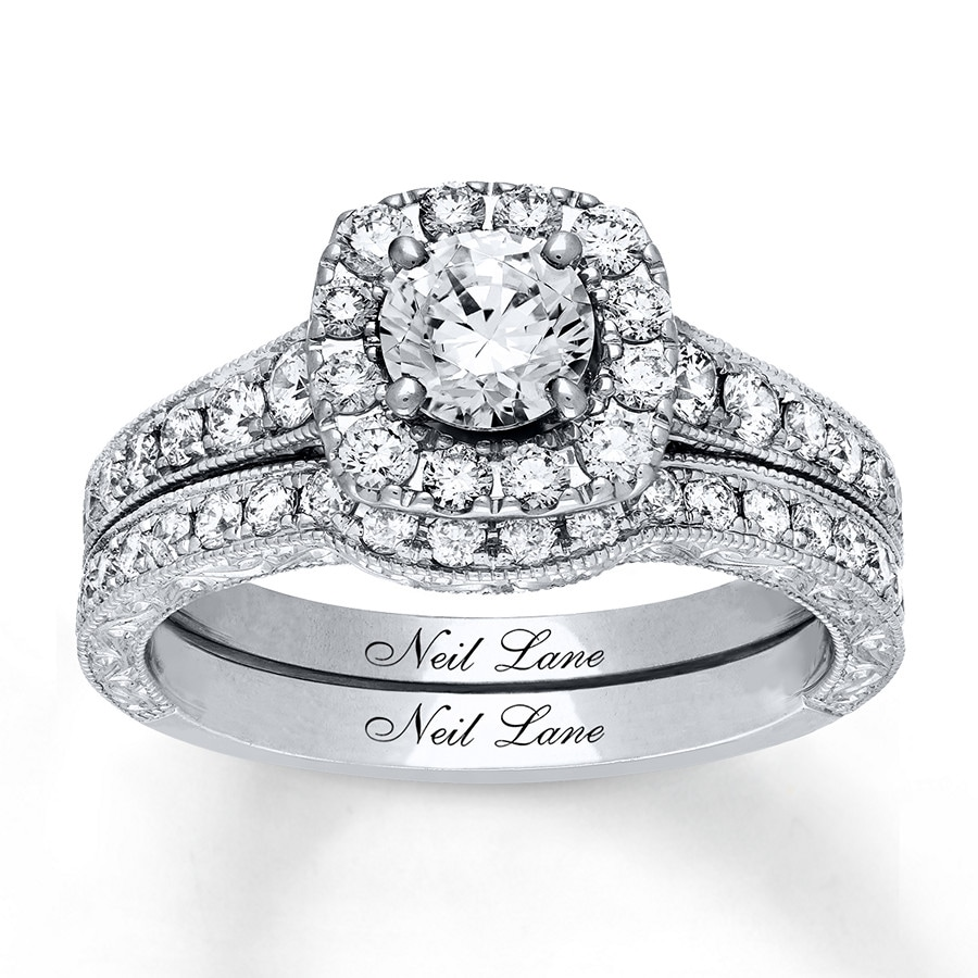 a800dfae6da945 Neil Lane Bridal Set 1-1/2 ct tw Diamonds 14K White Gold - 940296000 ...