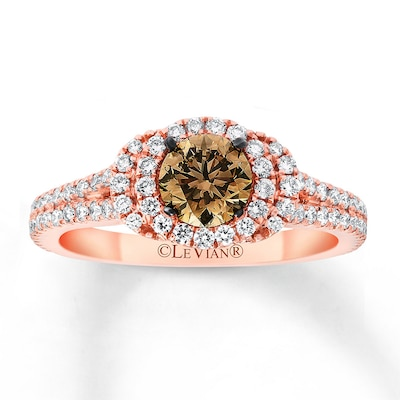Le Vian Bridal Ring 1-1/8 ct tw Diamonds 14K Strawberry Gold