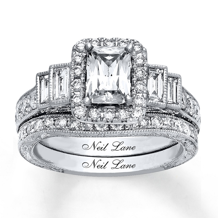72192bc3c1878e Neil Lane Bridal Set 2-3/8 ct tw Diamonds 14K White Gold - 940303600 ...