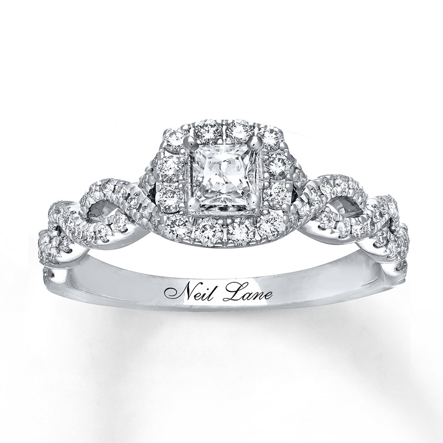 Wedding Rings Kay: Neil Lane Engagement Ring 5/8 Ct Tw Princess-cut 14K White