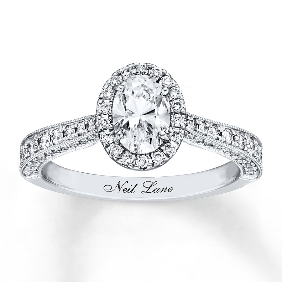 c2458ac5b Neil Lane Engagement Ring 1-3/8 ct tw Oval-cut 14K White Gold ...