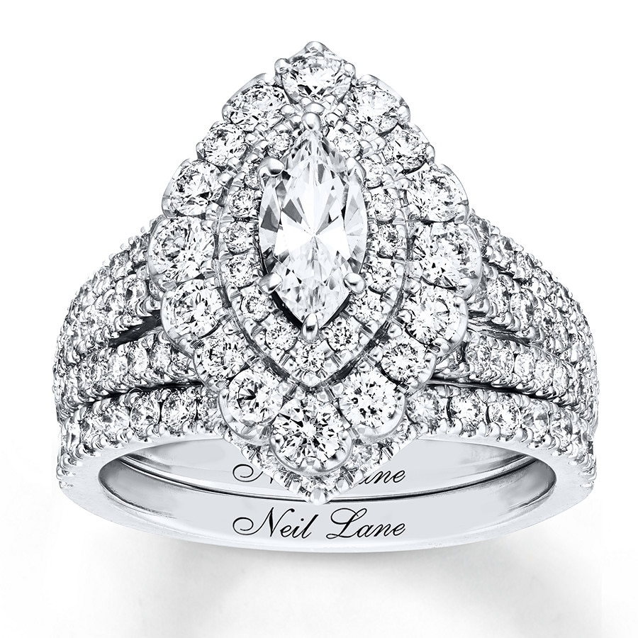 c5cfd43eed3e32 Neil Lane Bridal Set 2 ct tw Diamonds 14K White Gold- Engagement ...