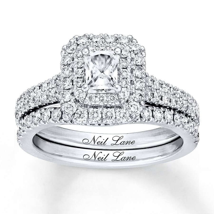 5fd63b711f17a6 Neil Lane Bridal Set 1-1/8 ct tw Diamonds 14K White Gold - 940345200 ...