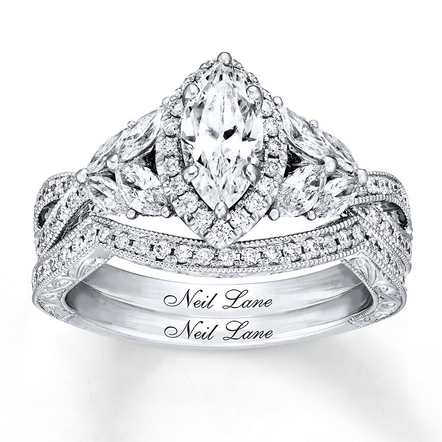 40a2423b8fb08d Neil Lane Bridal Set 1-1/2 ct tw Diamonds 14K White Gold - 940345500 ...