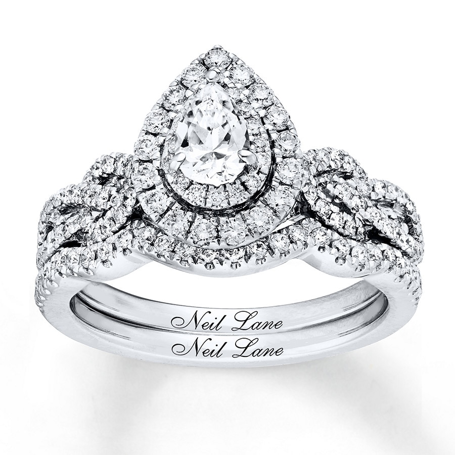 Neil Lane Diamond Bridal Set 1 Ct Tw 14k White Gold