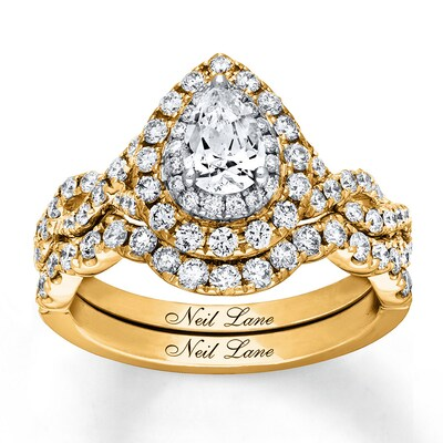 Neil Lane Diamond Bridal Set 1-1/2 ct tw 14K Two-Tone Gold