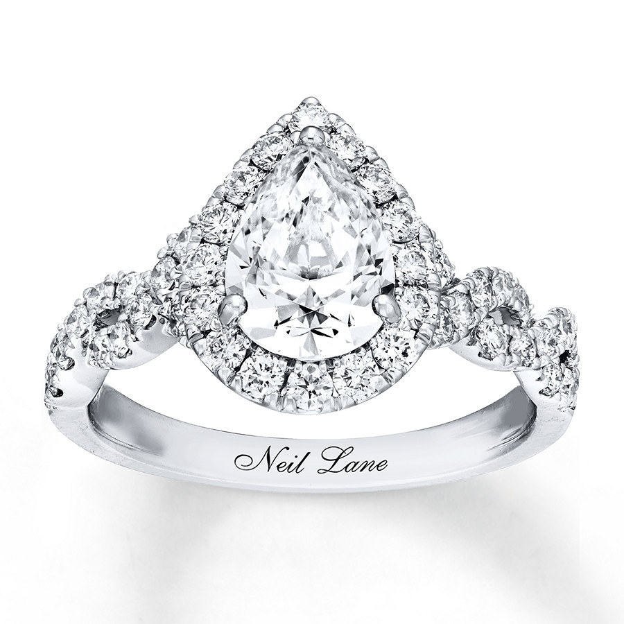e7d2639de Neil Lane Diamond Engagement Ring 2-1/8 ct tw 14K White Gold. Tap to expand