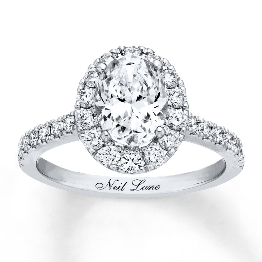 rbc size center engagement cushion diamond ctw halo ring neil gallery image shop lane approx buy i vintage