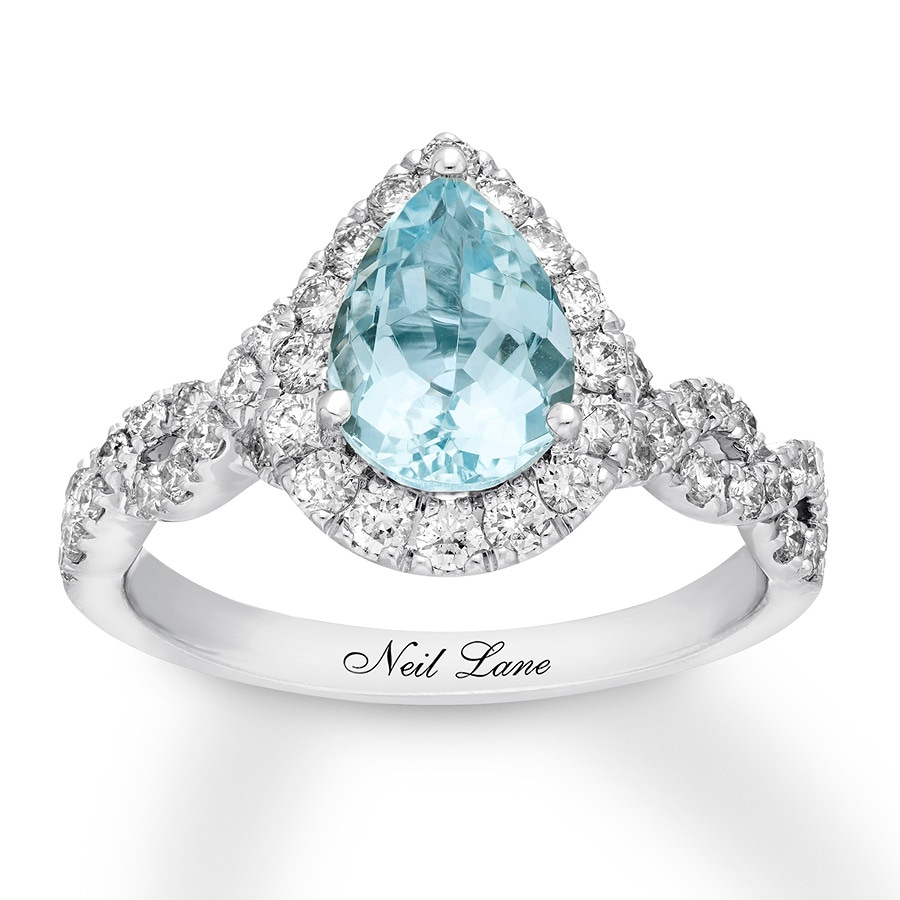 pin for rings aquamarine gift wife silver natural ring engagement