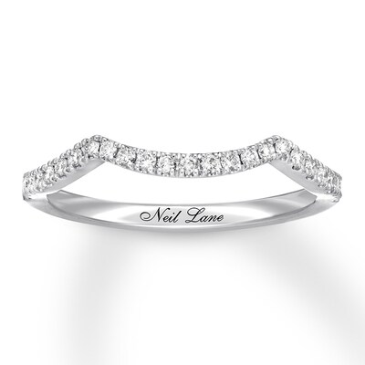 Neil Lane Diamond Wedding Band 1/5 ct tw 14K White Gold