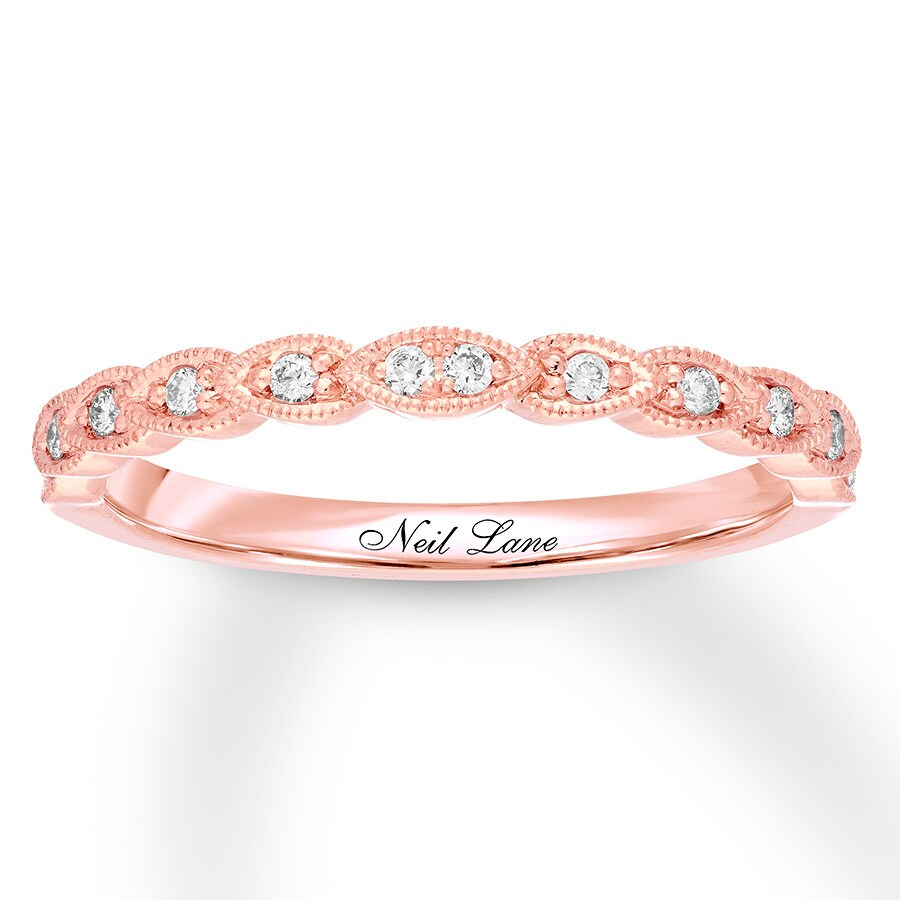 Neil lane wedding band 115 ct tw diamonds 14k rose gold 940365822 hover to zoom junglespirit Choice Image