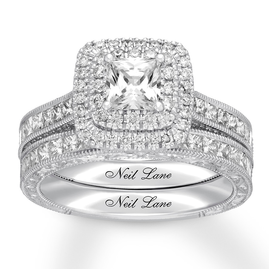 20515b5fb77d0b Neil Lane Bridal Set 2 1/8 ct tw Diamonds 14K White Gold. Tap to expand