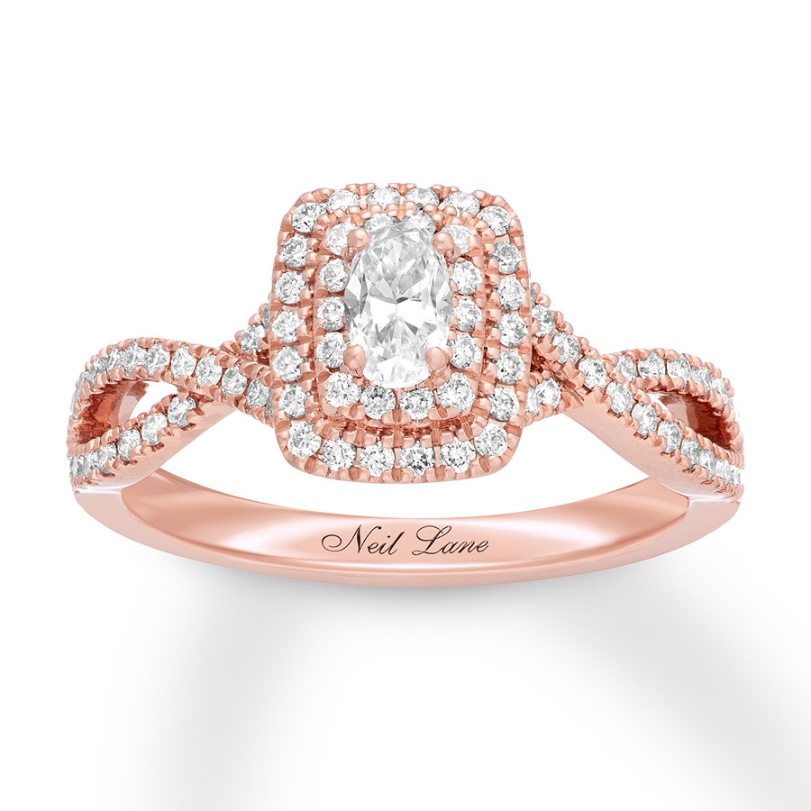 aefd3c8b2c0be Neil Lane Diamond Engagement Ring 3/4 14K Rose Gold