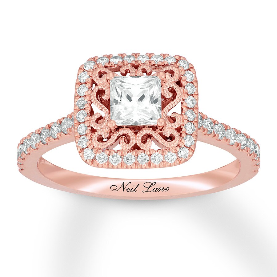 Neil Lane Engagement Ring 7/8 ct tw Diamonds 14K Rose Gold ...