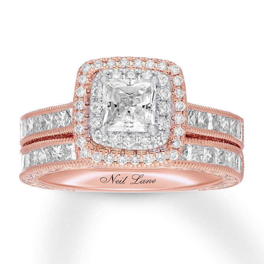 c9d0aa4af7d50 Neil Lane Bridal Set 2 1/8 ct tw Diamonds 14K Rose Gold