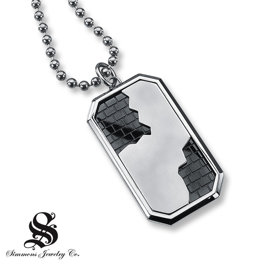 necklace king sonao steel net tag inches biker pendant stainless silver lion dog v a sterling lockets