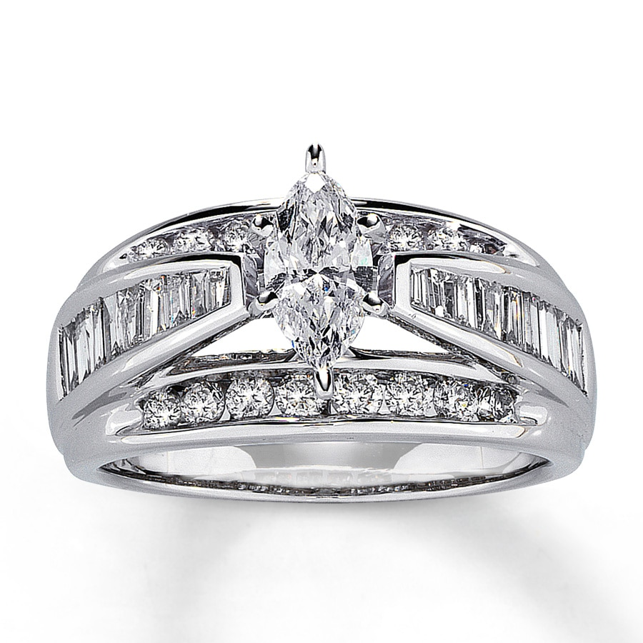 hover to zoom - Marquise Wedding Rings