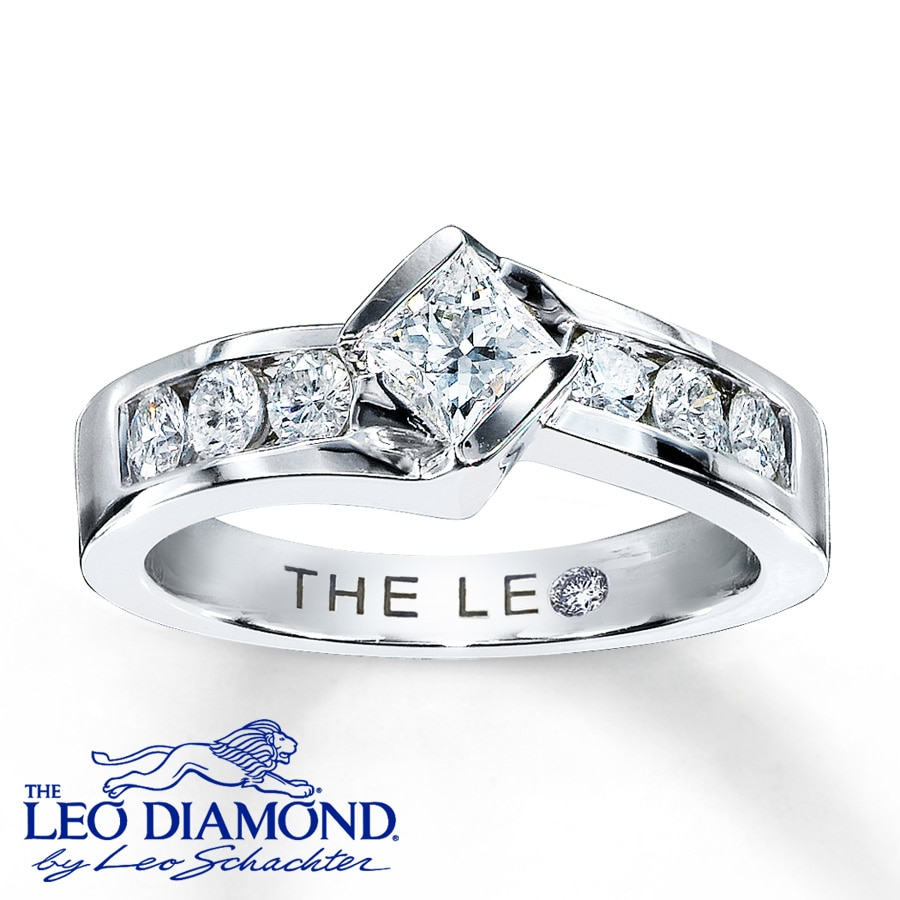 princess ajax cut diamond leo anniversary rings platinum new engagement inspirational ring of