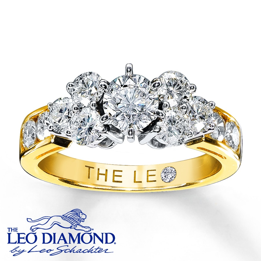 Kay Leo Diamond Ring 134 ct tw Roundcut 14K Yellow Gold
